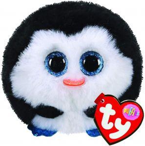 Plyšák TY - Puffies - plyšová zvířátka ve tvaru kuličky  - tučňák Waddles   10 cm  42510