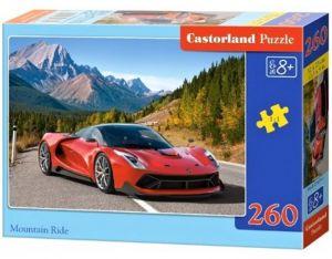 Puzzle Castorland 260 dílků - Červené sportovní auto v horách 27477