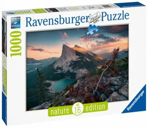 Puzzle Ravensburger 1000 dílků - Stmívání ve skalnatých horách  150113