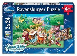 Puzzle Ravensburger  2x24 dílků  - sedm trpaslíků Disney  088591