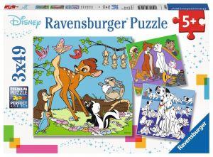 Puzzle Ravensburger  3 x 49 dílků  - Disney  zvířátka  080434