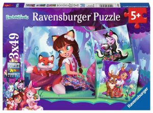 Puzzle Ravensburger  3 x 49 dílků  - Enchantimals  080618