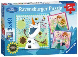 Puzzle Ravensburger  3 x 49 dílků  - Frozen  092451