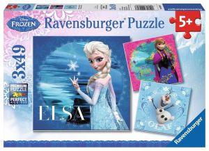 Puzzle Ravensburger  3 x 49 dílků  - Frozen  092697
