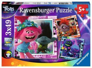 Puzzle Ravensburger  3 x 49 dílků  - Trolové - World Tour 050819