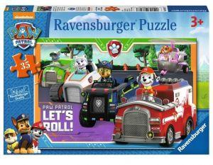 Puzzle Ravensburger  35 dílků - Paw Patrol - Tlapková patrola  086177