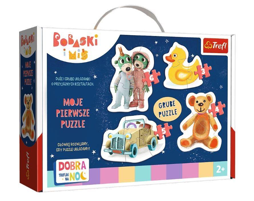 Puzzle Trefl Baby 3, 4, 5 a 6 dílků - Treflíci 36095