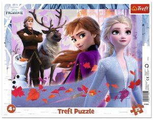 Trefl puzzle rámkové 25 dílků - Frozen  II  31345