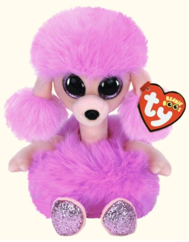 TY Beanie Boos - Camilla - fialový pudlík s dlouhým krkem 36383 - 15 cm plyšák TY Inc. ( Meteor )