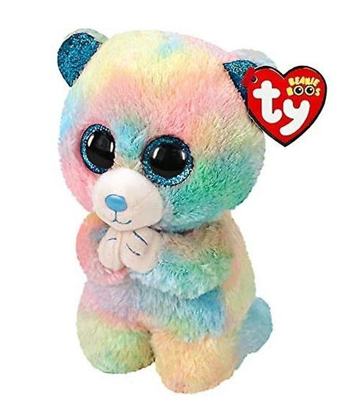 TY Beanie Boos - Hope - duhový klečící ( modlící se ) medvídek 36245 - 15 cm plyšák TY Inc. ( Meteor )