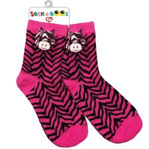 TY Fashion -  ponožky : zebra ZOE  -  95809