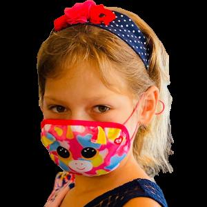 TY mask - maska na obličej / rouška : duhový jednorožec Fantasia  95704