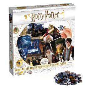 Winning Moves - puzzle 500 dílků kulaté - Harry Potter  a kámen mudrců  39598