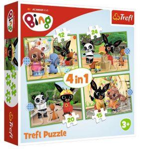 12, 15, 20 a 24  dílků -  4v1  Bing -  puzzle   Trefl 34357