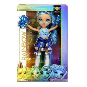 MGA Rainbow - panenka roztleskávačka - Skyler Bradshaw - modrá