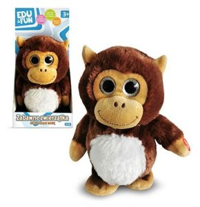Artyk : plyšový mluvící - opakující opička   20 cm