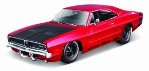 auto Maisto  1:24 Design - Dodge Charger R/T 1969  červené