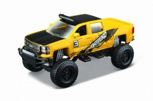 Auto Maisto - 4 x 4  Rebels - blistr -  Chevrolet Silverado 1500  Z71 - žlutá barva