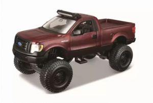 Auto Maisto - 4 x 4  Rebels - blistr -  Ford F-150 - vínová barva