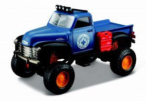 Auto Maisto - 4 x 4  Rebels - krabička - 1953 Chevrolet PickUp - modrá    barva