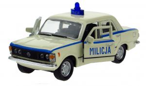auto Welly 1:34 - Fiat 125P- Milicja - béžová barva