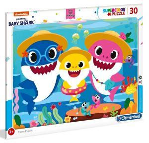 Deskové puzzle Clementoni - 30 dílků - Baby Shark  - 22109b
