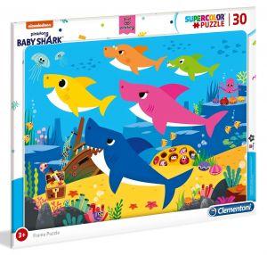 Deskové puzzle Clementoni - 30 dílků - Baby Shark  - 22109a