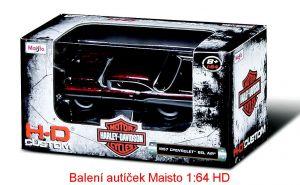 Maisto 1:64 11380 HD - Chevy PickUp 1936 - černá barva