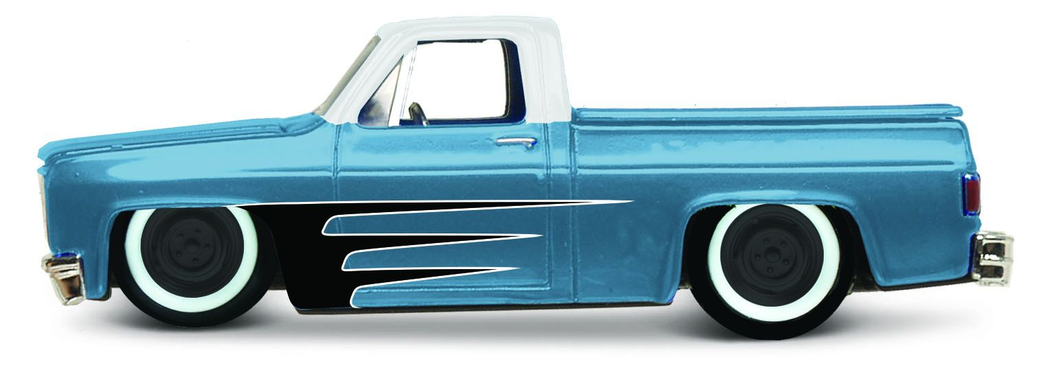 Maisto 1:64 15494 Design - Chevrolet 1500 1987 - modrá barva