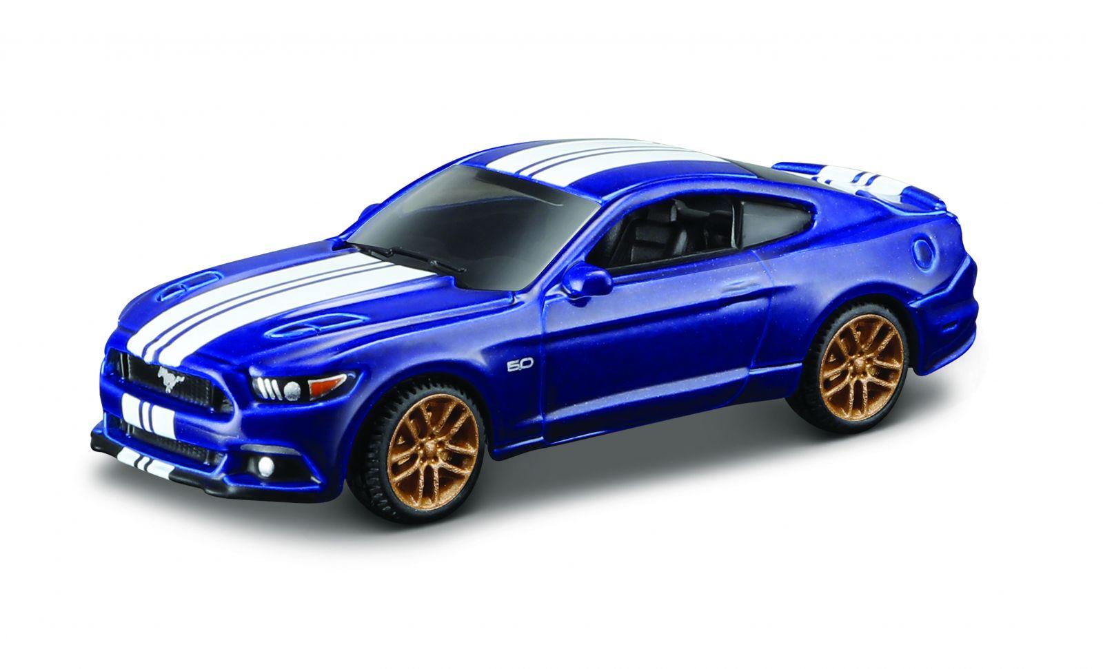 Maisto 1:64 15494 Design - Ford Mustang GT 2015 - modrá barva