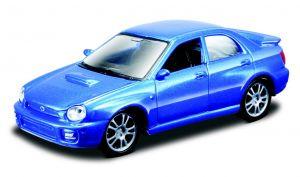 Maisto 21001 PR  Subaru Impreza WRX 2002  - modrá barva