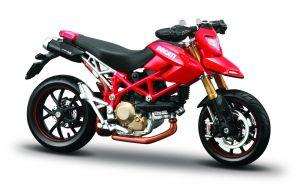 Maisto  motorka na stojánku - Ducati Hypermotard 1:18 červená