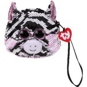 Meteor TY - plyšová kabelka do ruky s flitry   -  zebra Zoe  95230