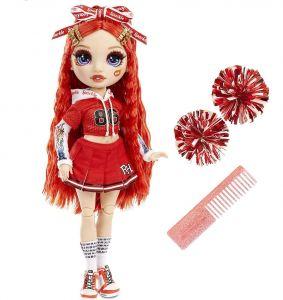 MGA Rainbow - panenka roztleskávačka - Ruby Anderson - červená