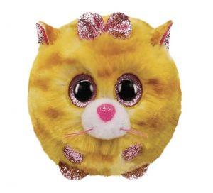 Plyšák TY - Puffies - plyšová zvířátka ve tvaru kuličky  - žlutá kočka Tabitha  10 cm  42507