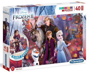 Podlahové puzzle Clementoni 40  dílků MEGA  - Frozen  25464