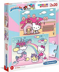 Puzzle Clementoni  2x20 dílků  -  Hello Kitty  24765