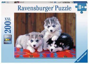 puzzle Ravensburger  200 dílků XXL - štěňata Husky 128235