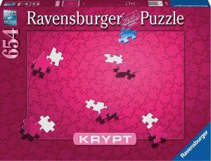 Puzzle Ravensburger 654 dílků - Krypt - růžová  barva  152643