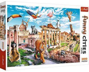 Puzzle Trefl  1000 dílků  - Funny Cities - Divoký Řím  10600