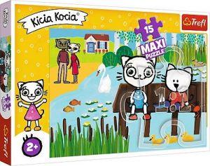 Puzzle Trefl 15 dílků MAXI - Kicia Kocia 14331