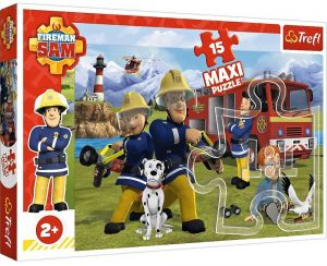 Puzzle Trefl 15 dílků MAXI - Požárník  Sam  14333
