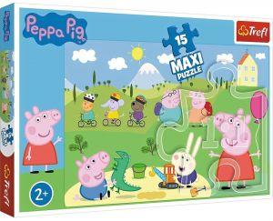 Puzzle Trefl 15 dílků MAXI - Prasátko Peppa 14334