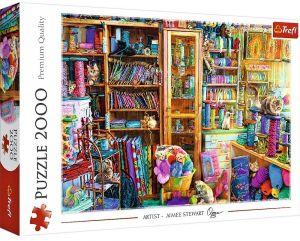Puzzle Trefl 2000 dílků - Kočičí ráj   27113