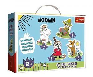 Puzzle Trefl  Baby  3, 4, 5 a 6 dílků  - Mumínci  36094