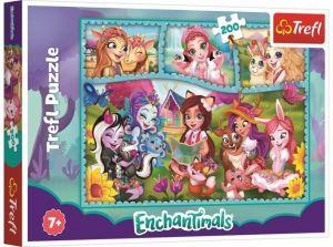TREFL Puzzle  200 dílků - svět Enchantimals 13261