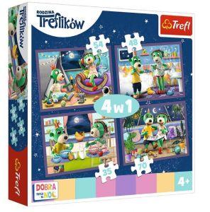 Trefl Puzzle 34370 - Treflíci - dobrou noc     4v1  35 48 54 70 dílků