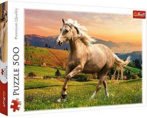 TREFL Puzzle  500 dílků -  Kůň  v běhu 37396