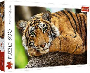 TREFL Puzzle  500 dílků -  Portrét tygra  37397