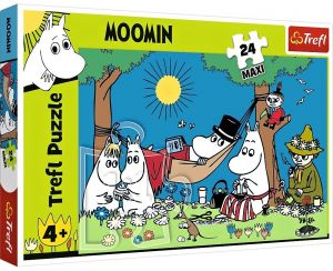 Trefl Puzzle Maxi 24 dílků - Radostný den Mumínků   14324